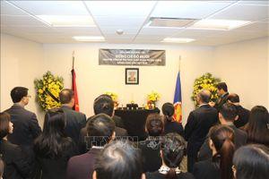 Lễ viếng và mở sổ tang nguyên Tổng Bí thư Đỗ Mười tại các nước