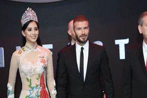 Trước Tiểu Vy, 2 mỹ nhân Việt từng diện đồ gợi cảm khi gặp David Beckham