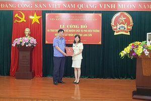 Lạng Sơn: Luân chuyển, bổ nhiệm một số vị trí lãnh đạo quan trọng