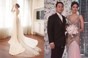 Chiêm ngưỡng 4 bộ váy cưới đẹp lộng lẫy khiến bao cô gái ao ước của Lan Khuê trong hôn lễ diễn ra tối qua
