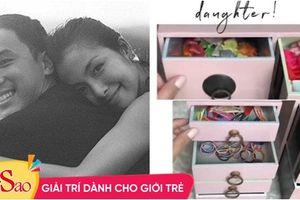 Tiểu công chúa vừa tròn 1 tuổi, Tăng Thanh Hà làm điệu cho con bằng tủ phụ kiện nhiều không đếm xuể