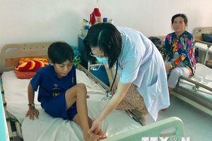 Cấp cứu thành công bệnh nhi 12 tuổi bị rắn lục bò vào nhà cắn