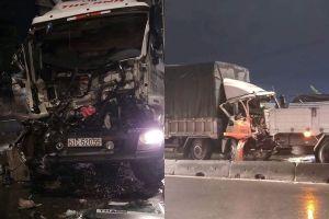 Liên tiếp tai nạn giao thông, tài xế mắc kẹt trong ca bin, cô gái tử vong tại chỗ