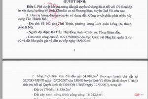 Tập đoàn Tân Thành Đô trúng đấu giá 179 lô đất tại Bắc Ninh