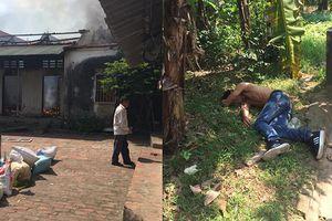 Clip: Nam thanh niên phóng hỏa đốt nhà rồi ra vườn chuối nằm ngủ