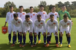 Việt Nam thua đáng tiếc trận ra quân Giải bóng đá quốc tế U.17 Jenesys 2018