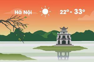 Thời tiết ngày 6/10: Hà Nội nắng 33 độ C, Sài Gòn mưa rào buổi chiều
