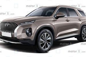 Hyundai Palisade - phiên bản cơ bắp của Santa Fe lộ diện