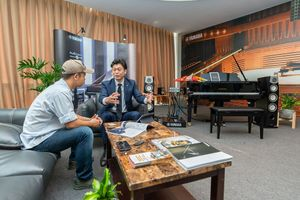 Gặp gỡ tổng giám đốc Yamaha Việt Nam, ông Makoto Tani tại AV Show 2018