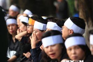 Những hình ảnh xúc động tại lễ tang nguyên Tổng Bí thư Đỗ Mười