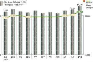 Giá xăng E5 RON 92 tăng thêm 675 đồng mỗi lít