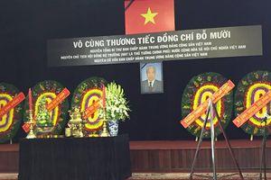 Lễ viếng nguyên Tổng Bí thư Đỗ Mười tại TP Hồ Chí Minh