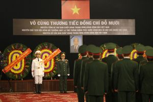 Xúc động lễ viếng Quốc tang nguyên Tổng Bí thư Đỗ Mười