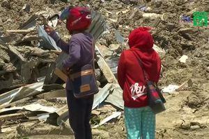 Tang thương những ngôi làng bị động đất, sóng thần xóa sổ ở Indonesia