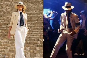 Melania Trump thay đổi phong cách, được so sánh với Michael Jackson