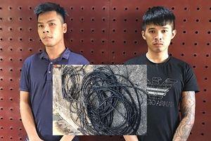 Vạch trần thủ đoạn của 2 'đạo chích' chuyên trộm cáp viễn thông ở ngoại thành Hà Nội