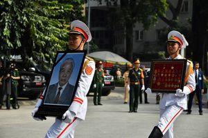 Hình ảnh xúc động trong lễ truy điệu nguyên Tổng Bí thư Đỗ Mười