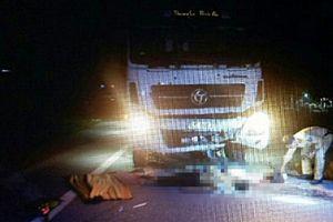 Xe máy lấn đường va chạm với xe tải, 2 người tử vong
