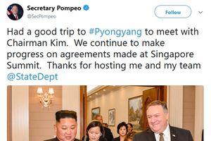 Ngoại trưởng Mỹ 'cảm ơn' Chủ tịch Kim Jong-un sau chuyến thăm Triều Tiên