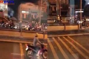 Hàng chục thanh niên xách hung khí hỗn chiến trên cầu Nhị Thiên Đường
