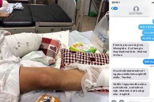Vợ cũ vào viện chăm sóc, 9x Phú Thọ bị băm nát chân vẫn nhắn tin cho bồ
