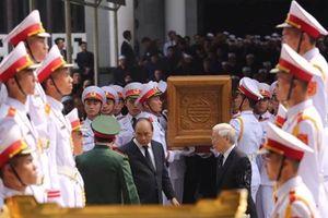 Hình ảnh di linh cữu nguyên Tổng Bí thư Đỗ Mười tới linh xa