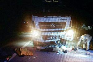 Ôtô tông trực diện xe máy, 2 người tử vong