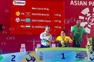 Nguyễn Bình An giành HCV thứ hai cho Việt Nam tại Asian Paragames 2018