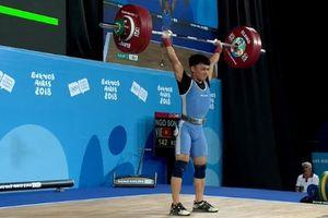 Ngô Sơn Đỉnh giành HCV cử tạ ở Olympic trẻ 2018