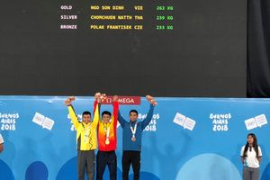 Ngô Sơn Đỉnh đoạt HCV cử tạ Olympic trẻ