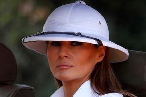 Bị chỉ trích vì đội nón cối thăm châu Phi, bà Malenia Trump nói gì?