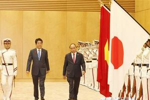 Lễ đón chính thức Thủ tướng Nguyễn Xuân Phúc tại thủ đô Tokyo