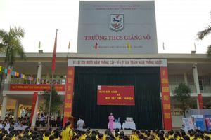 Hà Nội: Tưng bừng 'Ngày hội sách và học tập trải nghiệm' tại trường THCS Giảng Võ