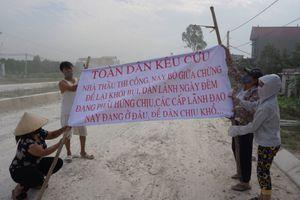 Thanh Hóa: Thi công đường bụi hành dân, dân bức xúc chặn đường tỉnh lộ