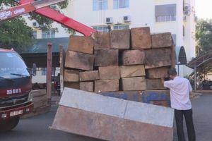 Đắk Lắk: Bắt vụ vận chuyển hơn 30m3 gỗ lậu trong đêm