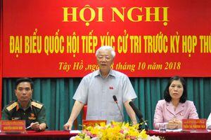 Tổng Bí thư Nguyễn Phú Trọng tiếp xúc cử tri quận Hoàn Kiếm, Ba Đình và Tây Hồ