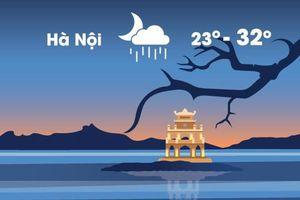 Thời tiết ngày 9/10: Hà Nội mưa dông buổi tối vì không khí lạnh