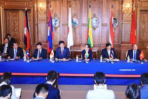 Thủ tướng dự họp báo chung với các nhà lãnh đạo Mekong-Nhật Bản