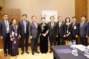 Chủ tịch Quốc hội Nguyễn Thị Kim Ngân hội kiến Chủ tịch Quốc hội Hàn Quốc, gặp Chủ tịch Hạ viện Belarus