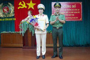 Công an tỉnh Kon Tum lần đầu tiên có nữ Phó giám đốc