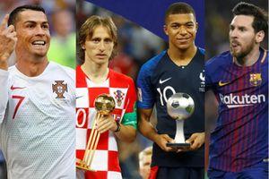 Ronaldo, Messi, Modric, Mbappe có mặt trong danh sách đề cử Quả Bóng Vàng