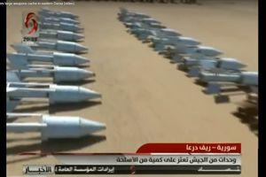 Quân đội Syria chiếm kho vũ khí thánh chiến lớn ở Daraa