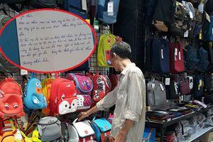 Xúc động người cha tay chân lấm lem đến mua balo rồi nhờ nhân viên viết thiệp gửi con gái 'từ hồi mẹ đi, ba biết con thiếu thốn nhiều…'