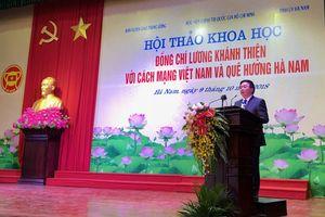 Đồng chí Lương Khánh Thiện với cách mạng Việt Nam và quê hương Hà Nam