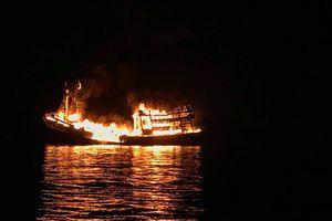 Phú Quốc: Cháy tàu cá, thiệt hại khoảng 13 tỷ đồng