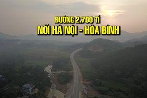 Toàn cảnh tuyến đường 2.700 tỉ nối Hà Nội - Hòa Bình ngày thông xe