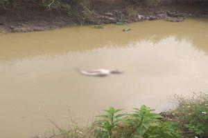 Người đàn ông chết trong tư thế lõa thể dưới mương nước