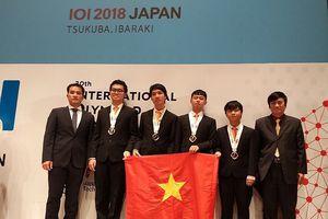 Năm 2018: 38 học sinh đội tuyển Việt Nam đều đoạt huy chương Olympic