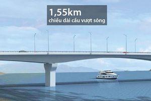 Thông xe cầu Văn Lang bắc qua sông Hồng