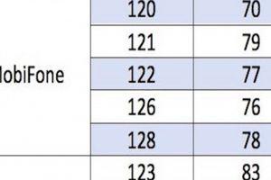 Bảng mã mạng 10 số sau khi chuyển đổi từ thuê bao 11 số